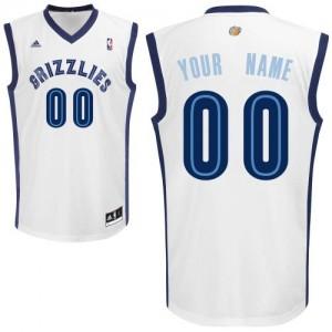 Maillot Adidas Blanc Home Memphis Grizzlies - Swingman Personnalisé - Homme
