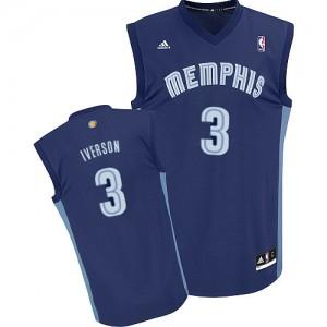 Maillot Swingman Memphis Grizzlies NBA Road Bleu marin - #3 Allen Iverson - Homme