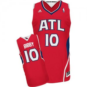 Maillot NBA Swingman Mike Bibby #10 Atlanta Hawks Alternate Rouge - Homme