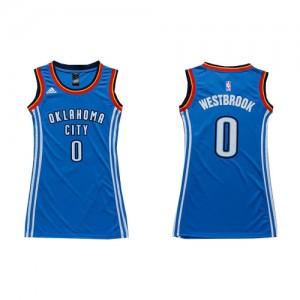 Maillot Adidas Bleu royal Dress Authentic Oklahoma City Thunder - Russell Westbrook #0 - Femme