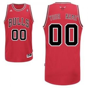 Maillot NBA Chicago Bulls Personnalisé Swingman Rouge Adidas Road - Homme