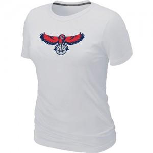 T-Shirt Blanc Big & Tall Atlanta Hawks - Femme