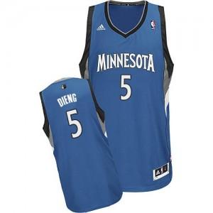 Minnesota Timberwolves #5 Adidas Road Slate Blue Swingman Maillot d'équipe de NBA préférentiel - Gorgui Dieng pour Homme