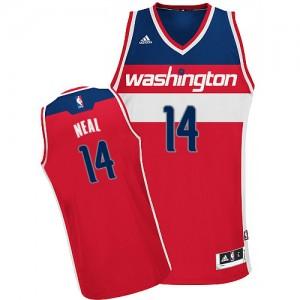 Maillot NBA Washington Wizards #14 Gary Neal Rouge Adidas Swingman Road - Homme