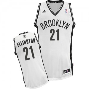 Maillot NBA Blanc Wayne Ellington #21 Brooklyn Nets Home Swingman Homme Adidas