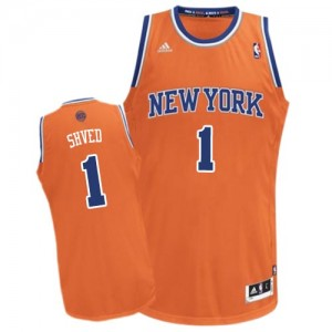 Maillot NBA New York Knicks #1 Alexey Shved Orange Adidas Swingman Alternate - Homme