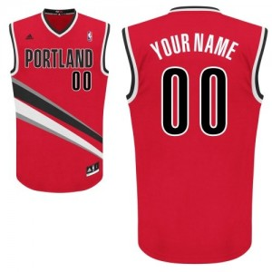 Portland Trail Blazers Swingman Personnalisé Alternate Maillot d'équipe de NBA - Rouge pour Femme