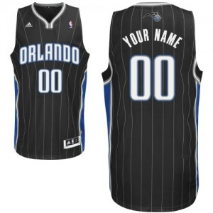 Maillot NBA Noir Swingman Personnalisé Orlando Magic Alternate Homme Adidas