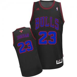 Maillot NBA Noir Bleu Michael Jordan #23 Chicago Bulls Authentic Homme Adidas