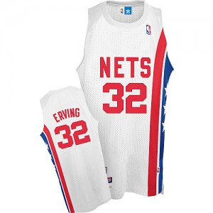 Maillot Adidas Blanc Throwback ABA Retro Authentic Brooklyn Nets - Julius Erving #32 - Homme