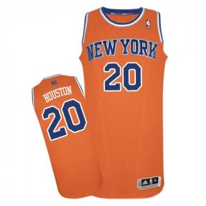 New York Knicks #20 Adidas Alternate Orange Authentic Maillot d'équipe de NBA pour pas cher - Allan Houston pour Homme