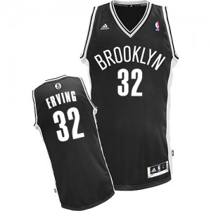 Maillot NBA Noir Julius Erving #32 Brooklyn Nets Road Swingman Homme Adidas