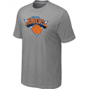 T-shirt principal de logo New York Knicks NBA Big & Tall Gris - Homme