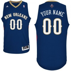 Maillot Adidas Bleu marin Road New Orleans Pelicans - Authentic Personnalisé - Femme