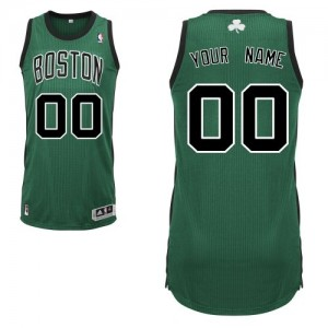 Maillot NBA Vert (No. noir) Authentic Personnalisé Boston Celtics Alternate Homme Adidas
