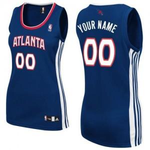 Maillot NBA Atlanta Hawks Personnalisé Authentic Bleu marin Adidas Road - Femme