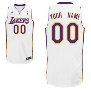 Maillot Adidas Blanc Alternate Los Angeles Lakers - Swingman Personnalisé - Homme