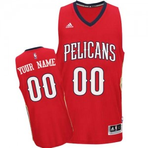 New Orleans Pelicans Personnalisé Adidas Alternate Rouge Maillot d'équipe de NBA la meilleure qualité - Authentic pour Femme