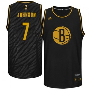 Maillot Adidas Noir Precious Metals Fashion Swingman Brooklyn Nets - Joe Johnson #7 - Homme