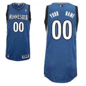 Minnesota Timberwolves Authentic Personnalisé Road Maillot d'équipe de NBA - Slate Blue pour Homme