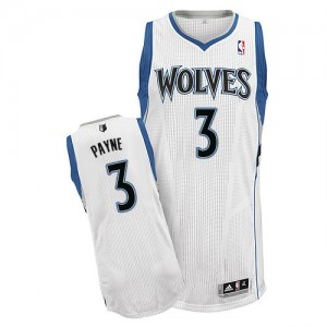 Maillot NBA Authentic Adreian Payne #3 Minnesota Timberwolves Home Blanc - Homme