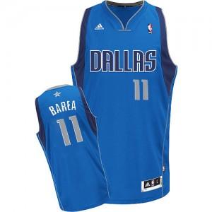 Maillot NBA Dallas Mavericks #11 Jose Barea Bleu royal Adidas Swingman Road - Homme