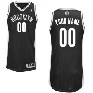 Brooklyn Nets Personnalisé Adidas Road Noir Maillot d'équipe de NBA la meilleure qualité - Authentic pour Homme