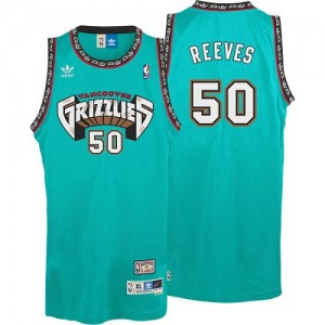 Maillot NBA Memphis Grizzlies #50 Bryant Reeves Vert Adidas Authentic Hardwood Classics Throwback - Homme