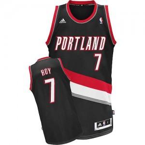 Portland Trail Blazers #7 Adidas Road Noir Swingman Maillot d'équipe de NBA la meilleure qualité - Brandon Roy pour Homme