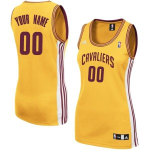 Maillot NBA Or Swingman Personnalisé Cleveland Cavaliers Alternate Femme Adidas