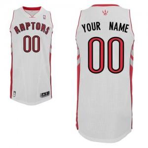 Maillot NBA Blanc Authentic Personnalisé Toronto Raptors Home Homme Adidas