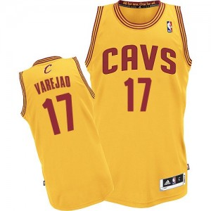 Maillot Adidas Or Alternate Authentic Cleveland Cavaliers - Anderson Varejao #17 - Homme