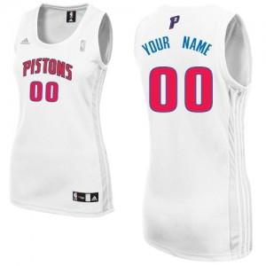 Maillot NBA Detroit Pistons Personnalisé Swingman Blanc Adidas Home - Femme