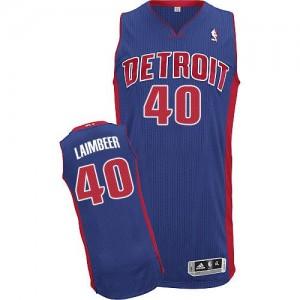 Detroit Pistons #40 Adidas Road Bleu royal Authentic Maillot d'équipe de NBA vente en ligne - Bill Laimbeer pour Homme