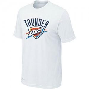 T-shirt principal de logo Oklahoma City Thunder NBA Big & Tall Blanc - Homme