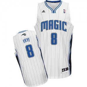 Maillot NBA Blanc Channing Frye #8 Orlando Magic Home Swingman Homme Adidas