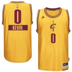 Maillot NBA Authentic Kevin Love #0 Cleveland Cavaliers 2014-15 Christmas Day Or - Enfants