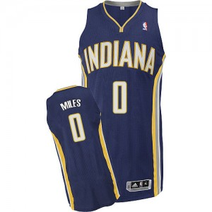 Maillot NBA Indiana Pacers #0 C.J. Miles Bleu marin Adidas Authentic Road - Homme