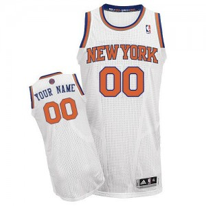 Maillot NBA Authentic Personnalisé New York Knicks Home Blanc - Enfants