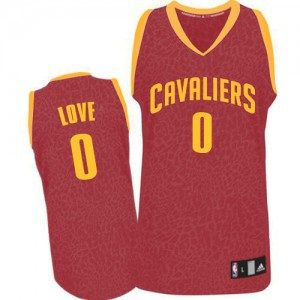 Maillot NBA Swingman Kevin Love #0 Cleveland Cavaliers Crazy Light Rouge - Homme