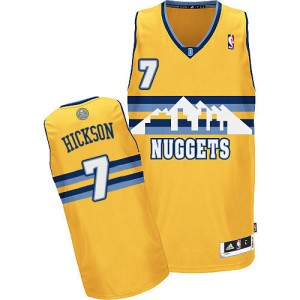 Denver Nuggets JJ Hickson #7 Alternate Authentic Maillot d'équipe de NBA - Or pour Homme