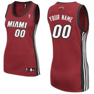 Miami Heat Personnalisé Adidas Alternate Rouge Maillot d'équipe de NBA boutique en ligne - Authentic pour Femme