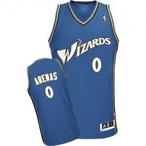 Maillot NBA Bleu Gilbert Arenas #0 Washington Wizards Swingman Homme Adidas