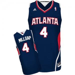 Maillot Adidas Bleu marin Road Swingman Atlanta Hawks - Paul Millsap #4 - Homme