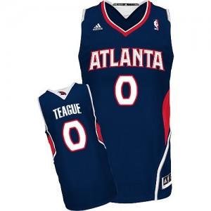 Atlanta Hawks Jeff Teague #0 Road Swingman Maillot d'équipe de NBA - Bleu marin pour Homme