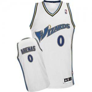 Maillot NBA Authentic Gilbert Arenas #0 Washington Wizards Blanc - Homme