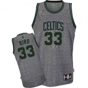 Maillot Adidas Gris Static Fashion Authentic Boston Celtics - Larry Bird #33 - Homme