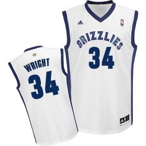 Memphis Grizzlies Brandan Wright #34 Home Swingman Maillot d'équipe de NBA - Blanc pour Homme