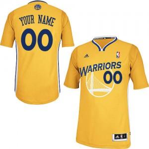 Golden State Warriors Personnalisé Adidas Alternate Or Maillot d'équipe de NBA Braderie - Swingman pour Homme