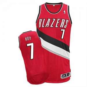 Maillot NBA Portland Trail Blazers #7 Brandon Roy Rouge Adidas Authentic Alternate - Homme